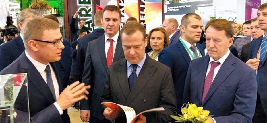 Визит Дмитрия Медведева на агропромышленную выставку - ООО ТД Кирово-Чепецкая Химическая Компания