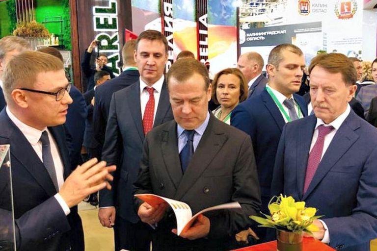 Визит Дмитрия Медведева на агропромышленную выставку