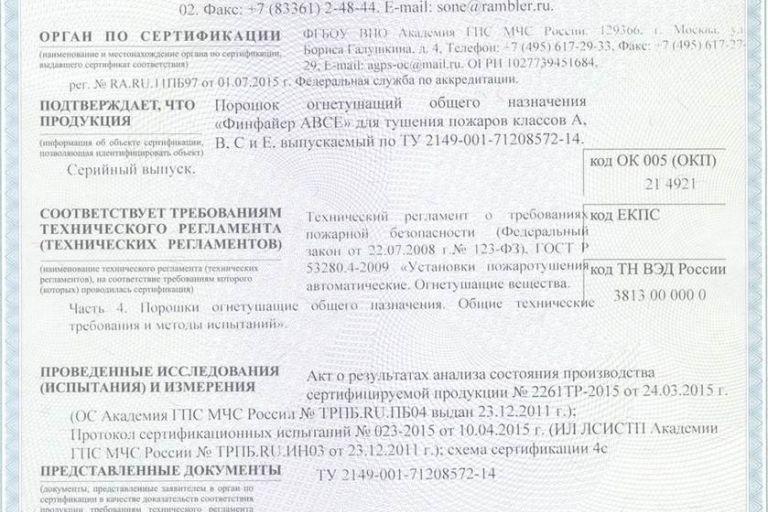Сертификат на производство препарата